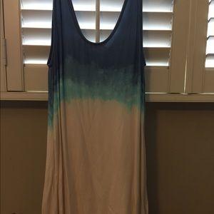 BB Dakota, Blue and white ombré dress